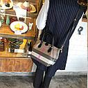 Кожаная сумка , решетчатые  ручная сумка,  сумка через плечо, фото 5