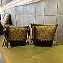 Жіноча сумка з натуральної шкіри, модна сумка-відро з заклепками, сумка через плече, фото 5