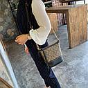 Жіноча сумка з натуральної шкіри, модна сумка-відро з заклепками, сумка через плече, фото 6