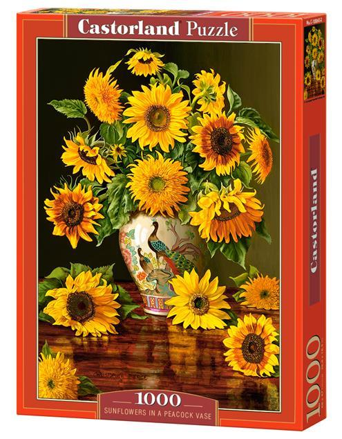 """Пазли 1000 елементів """"Соняшники у вазі Павича"""", C~103843   Castorland"""