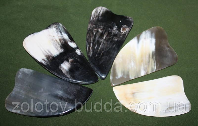 Скребок Гуаша кость (рог буйвола) среднего качества