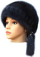 """норковая  шапка модель """"конфетка резаная 1 ряд """" цвет ирис"""