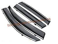 Ветровики с хром кантиком на Hyundai Santa Fe IX45 2013+