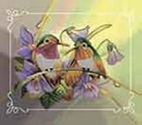 """Вышивка Бисером """"Пара птиц"""" (две картины в наборе) ВБ2000 Идейка"""
