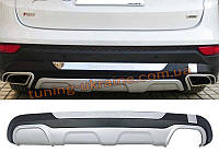 Накладка на бампер задняя Hyundai Santa Fe (IX45) 2013+