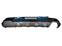 Накладка на бампер задняя Hyundai Santa Fe IX45 2013+