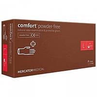 Перчатки латексные L без пудры, Mercator Comfort powder-free, 100 шт.
