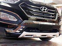 Накладка на бампер передняя Hyundai Santa Fe (IX45) 2013+