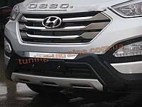 Накладка на бампер передняя Hyundai Santa Fe IX45 2013+