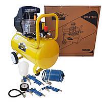Поршневой компрессор для дома Werk BМ-2T50N Воздушный, 50л с Набором пневмоинструмента на 4 предмета!, фото 1