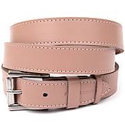 Кожаный женский ремень GRANDE PELLE 11376 Розовый