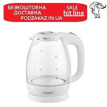 Электрический чайник 1,7л стеклянный Maestro MR-063-W