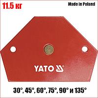 Струбцина магнітна для зварювання 64 Х 95 Х 14 мм, 11.5 кг Yato YT-0866