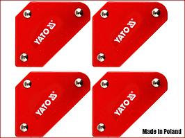 Набір магнітних тримачів для зварювальних робіт 4 шт. Yato YT-08677