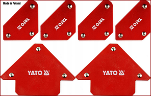 Набір магнітних тримачів для зварювальних робіт 6 шт. Yato YT-08678