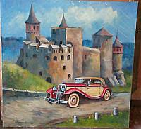 Подарок на юбилей «Каменец-Подольская крепость. Коллекционные авто»