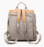 Рюкзак-сумка Yiqbei сірий, фото 2