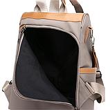 Рюкзак-сумка Yiqbei сірий, фото 4