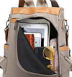 Рюкзак-сумка Yiqbei сірий, фото 5