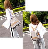 Рюкзак-сумка Yiqbei сірий, фото 6