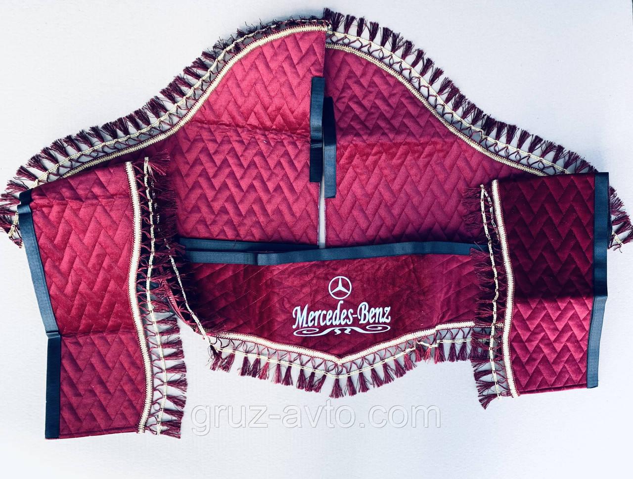 Штори в кабіну Мерседес MERСEDES-Benz світловідбиваючий логотип