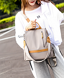Рюкзак-сумка Yiqbei сірий, фото 7