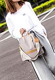 Рюкзак-сумка Yiqbei сірий, фото 8
