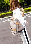 Рюкзак-сумка Yiqbei сірий, фото 9