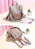 Рюкзак-сумка Yiqbei сірий, фото 10