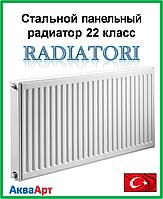 Стальной радиатор Raditori 22k 500*500 боковое подключение