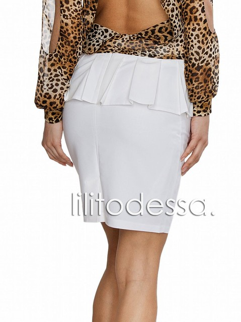 Белая юбка карандаш с доставкой