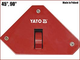 Струбцина магнітна для зварювання 13,5 кг з вимикачем Yato YT-0868