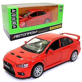 Игрушечная машинка металлическая «Mitsubishi Lancer Evolution» Автопром Митсубиси, красный, 14*5*5 см, (68462)