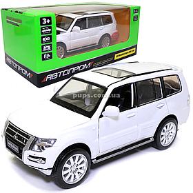 Игрушечная машинка металлическая «Mitsubishi Pajero 4WD Turbo» Автопром Митсубиси, белый, 14*5*5 см, (68463)