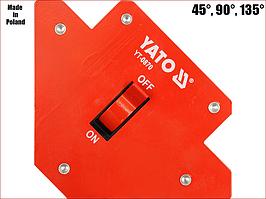 Струбцина магнітна для зварювання 13,5 кг з вимикачем Yato YT-0870