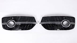 Решетки переднего бампера Audi Q3 8U 2011-2015 в стиле S-line / RSQ3