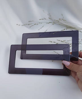 Ручки для сумки из эпоксидной смолы 20*10*2 см, полупрозрачные эксклюзив.