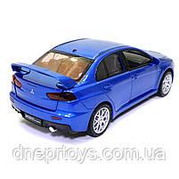 Игрушечная машинка металлическая «Mitsubishi Lancer Evolution» Автопром Митсубиси, синий, 14*5*5 см, (68462), фото 3
