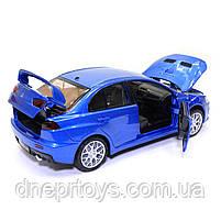 Игрушечная машинка металлическая «Mitsubishi Lancer Evolution» Автопром Митсубиси, синий, 14*5*5 см, (68462), фото 4