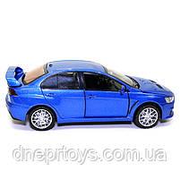 Игрушечная машинка металлическая «Mitsubishi Lancer Evolution» Автопром Митсубиси, синий, 14*5*5 см, (68462), фото 5
