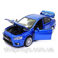 Игрушечная машинка металлическая «Mitsubishi Lancer Evolution» Автопром Митсубиси, синий, 14*5*5 см, (68462), фото 6