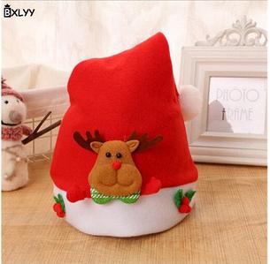Новорічні шапочки ковпаки BXLYY з персонажами Коричневий олень