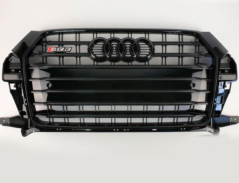 Решітка радіатора Audi Q3 2015-2018 в стилі SQ3 (All Black)