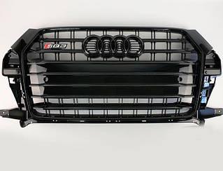 Решетка радиатора Audi Q3 2015-2018 в стиле SQ3 (All Black)