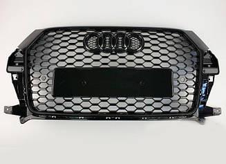 Решетка радиатора Audi Q3 2015-2018 в стиле RSQ3 (All Black)