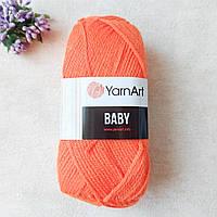 YarnArt Baby/ Беби 8279 ярко -оранжевый