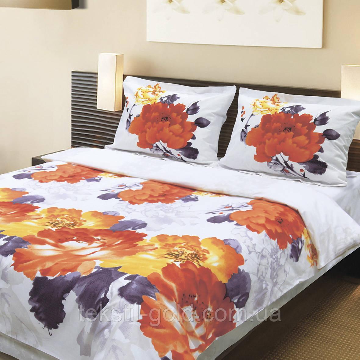 Комплект постельного белья 915 «Акварель» ТМ ТЕП (Украина) бязь полуторный