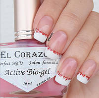 Укрепитель для ногтей лак био гель Active Bio-gel 423 от EL Corazon 16 мл