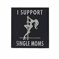 Патч 3D PVC I support single moms Black