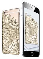Золотой чехол Ангел с крыльями iphone 6/6S, фото 1